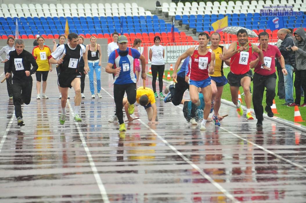 Дождь эстафете не помеха или любителям спорта – любая погода по плечу