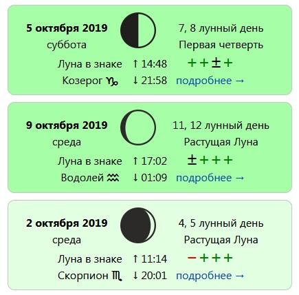 Лунный календарь стрижек на Октябрь 2019 года