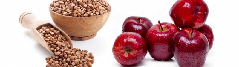 Яблоко при гречневой диете