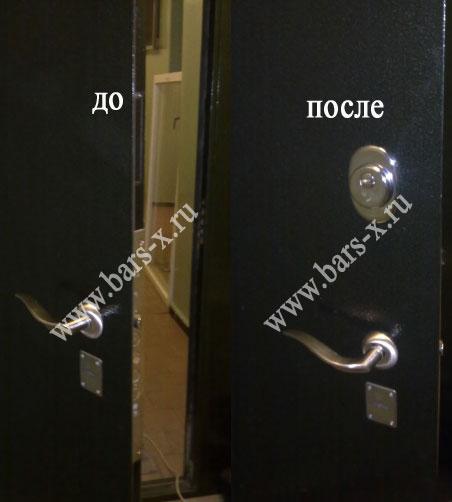 поменять замки железной двери